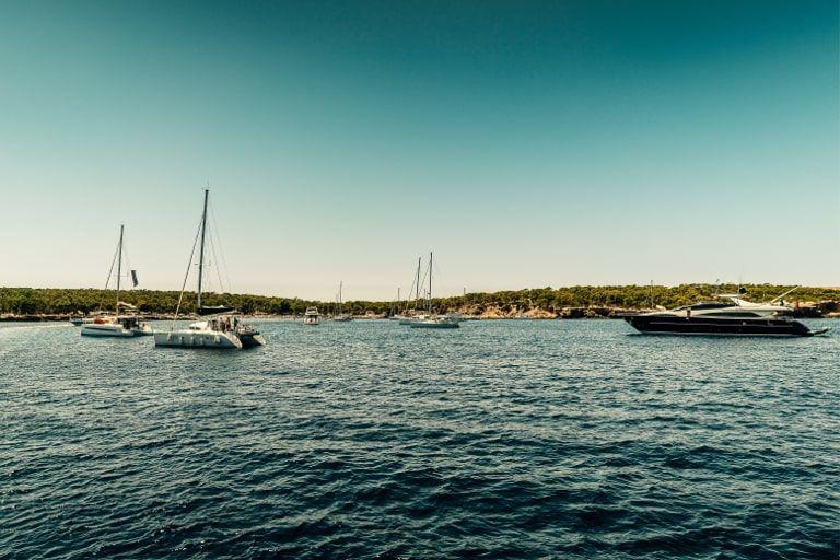 Ibiza families boat