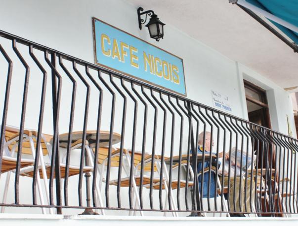 cafe terrace corsica