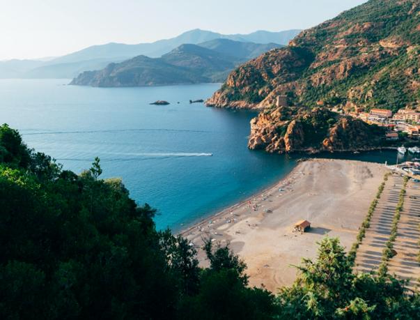 corsica bay beach