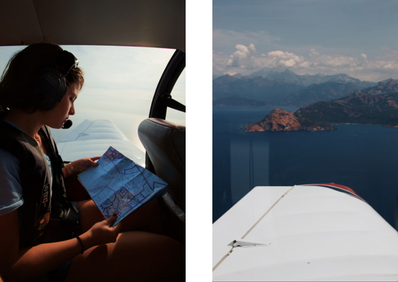Corsica family holidays aeroplane