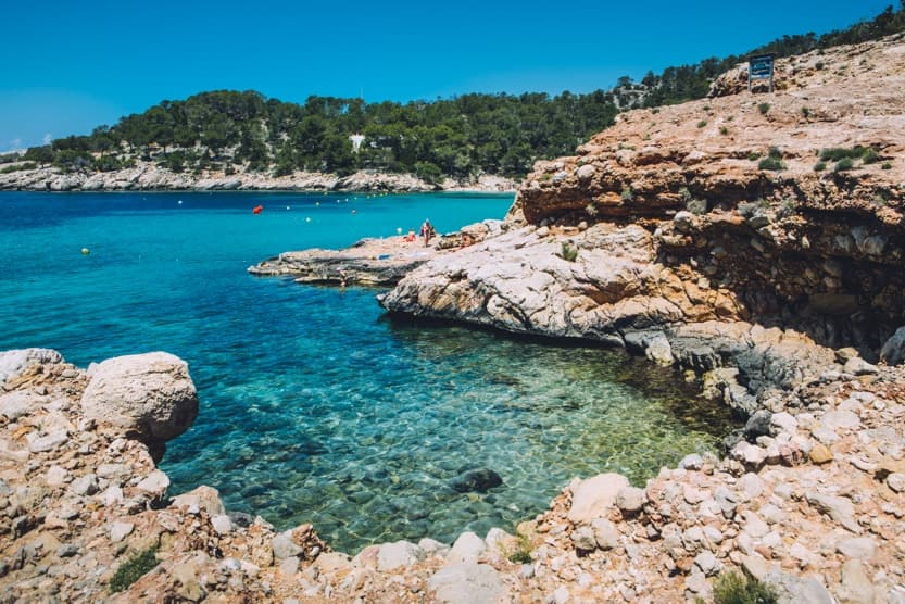 best-beaches-in-north-ibiza-cala-saladeta