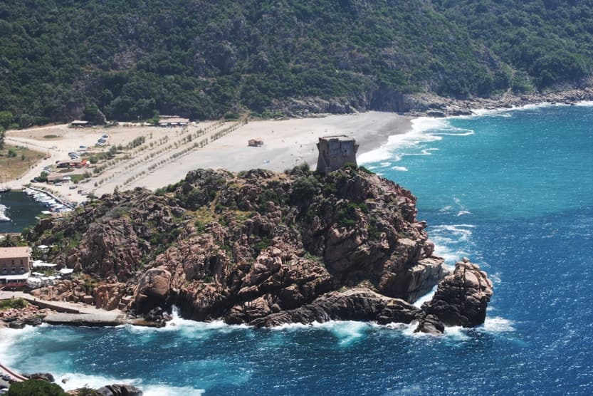 south-corsica-beaches-tower