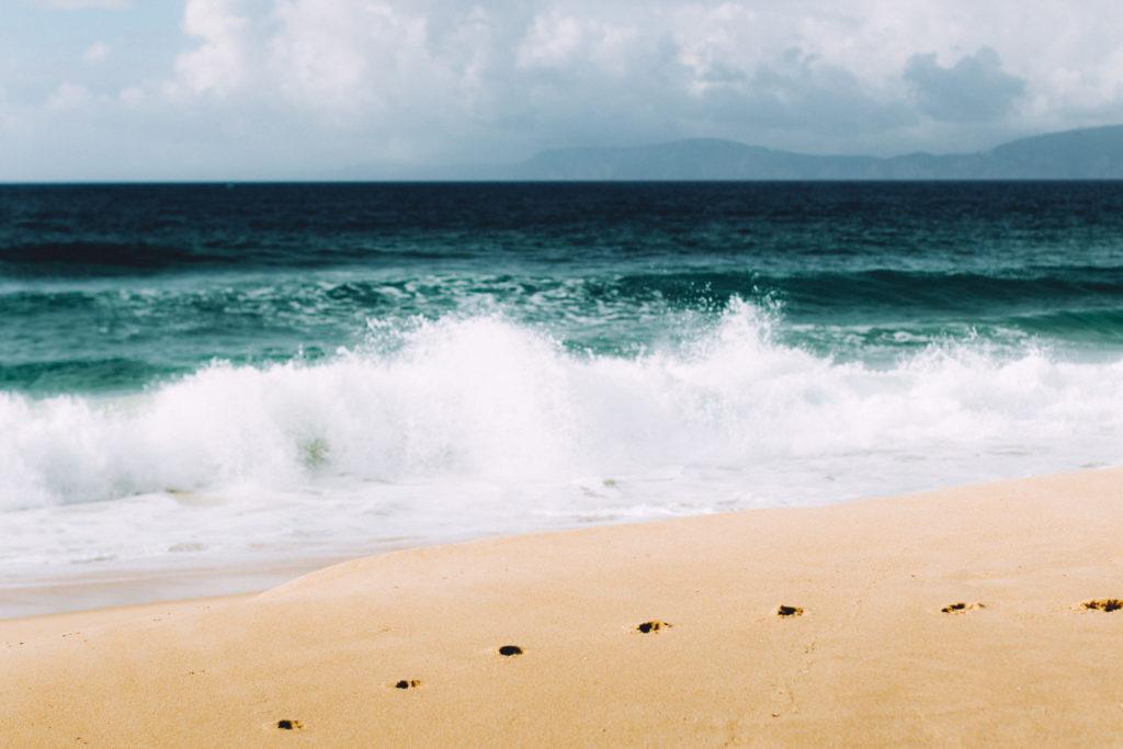 Vagues déchainées sur la plage de Comporta