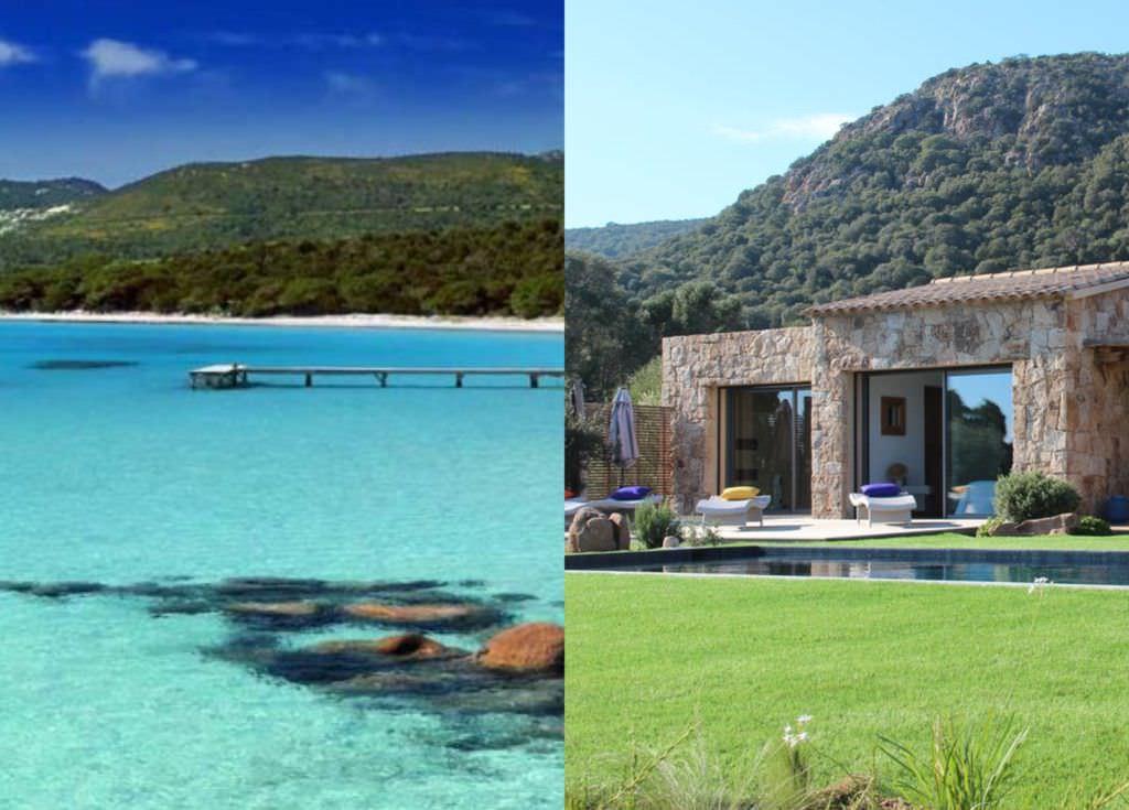 Rental Corsica villas near beach spots Palombaggia