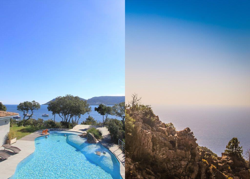 Rental Corsica villas seafront Cala Verde