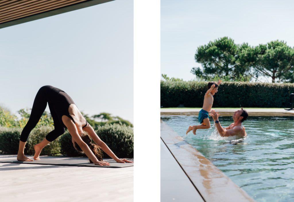 yoga and swimming